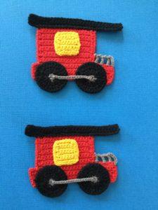 Crochet train caboose group