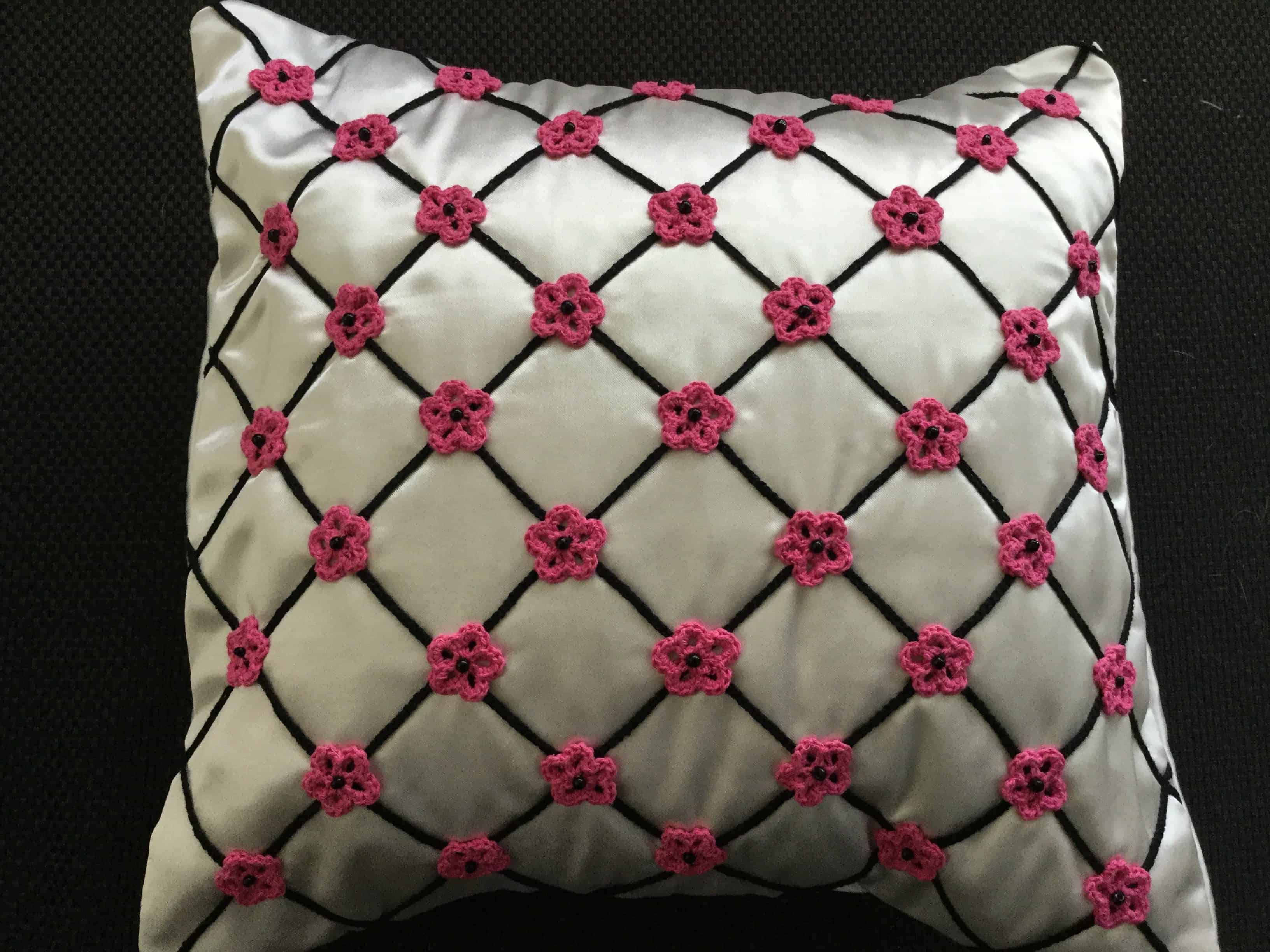 Flower Cushion Crochet Pattern Kerris Crochet