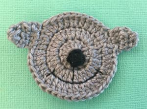 Crochet sheep face with nose and mouth