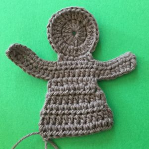 Crochet gingerbread man body