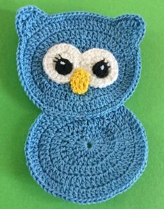 Crochet owl body and head