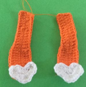 Crochet crouching tiger arms with paws