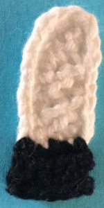 Crochet unicorn far front leg with hoof