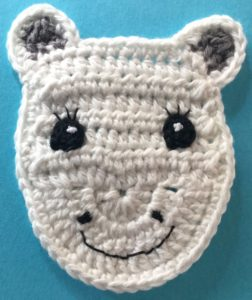 Crochet unicorn head with mouth