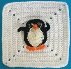 Attaching appliques to items placement of penguin