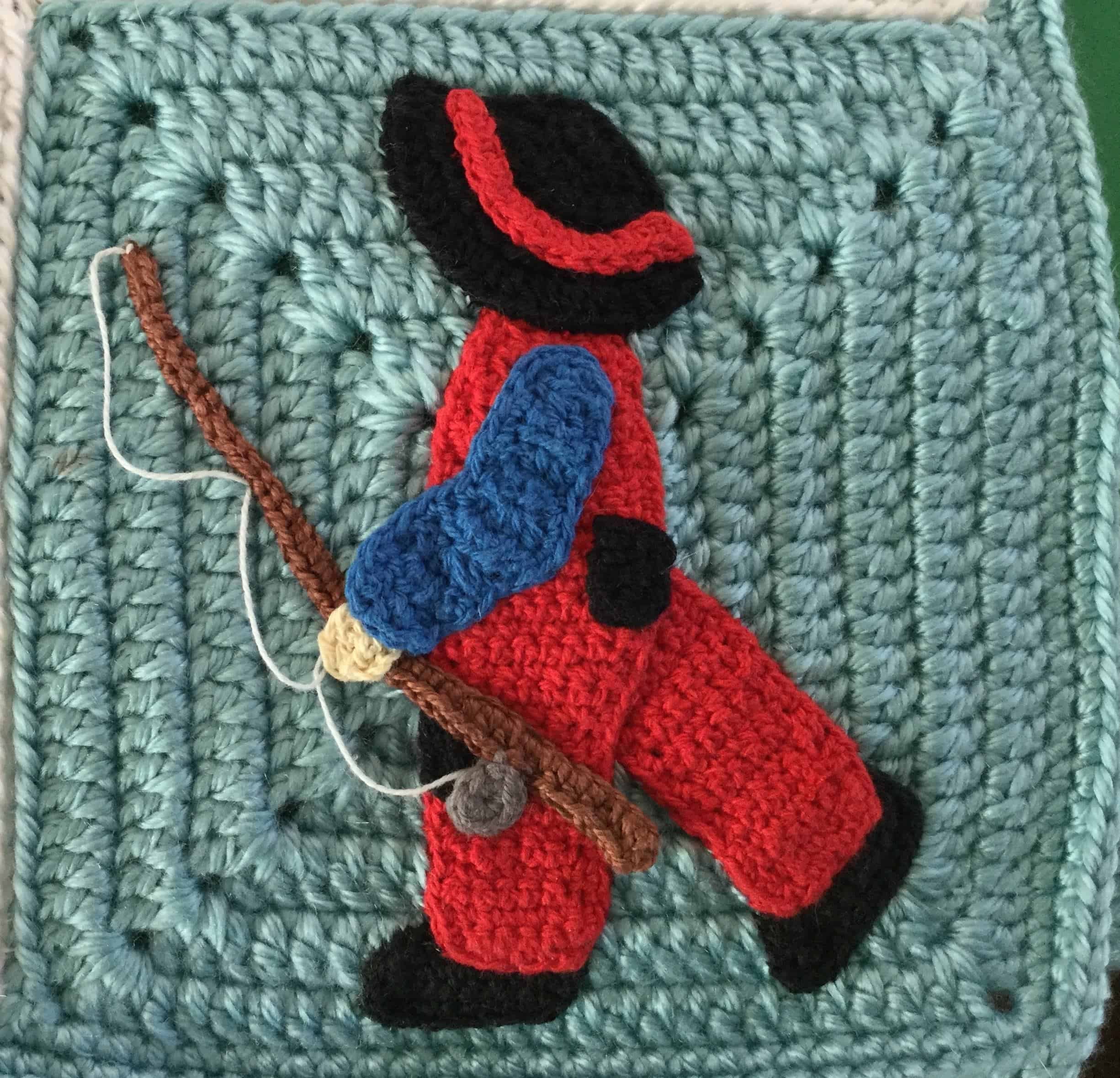 Crochet Edging For Baby Blanket Boy With Fishing Rod Square