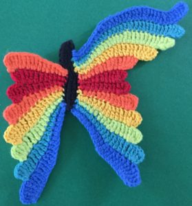 Crochet butterfly second wing eight segment