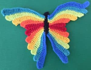 Crochet butterfly second wing eleventh segment