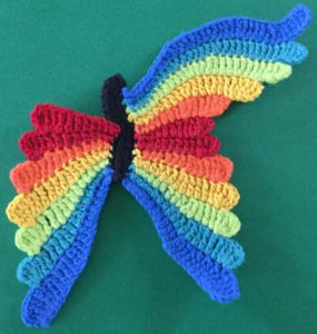 Crochet butterfly second wing seventh segment