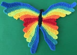 Crochet butterfly second wing twelfth segment