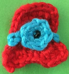Crochet clown with tophat tophat with flower