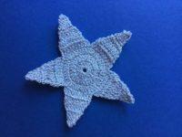 Finished crochet star landscape