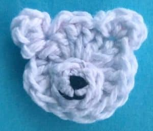 Crochet airplane applique teddy bear with muzzle