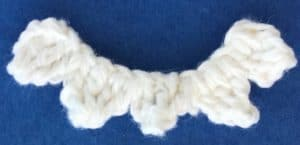 Crochet shark teeth