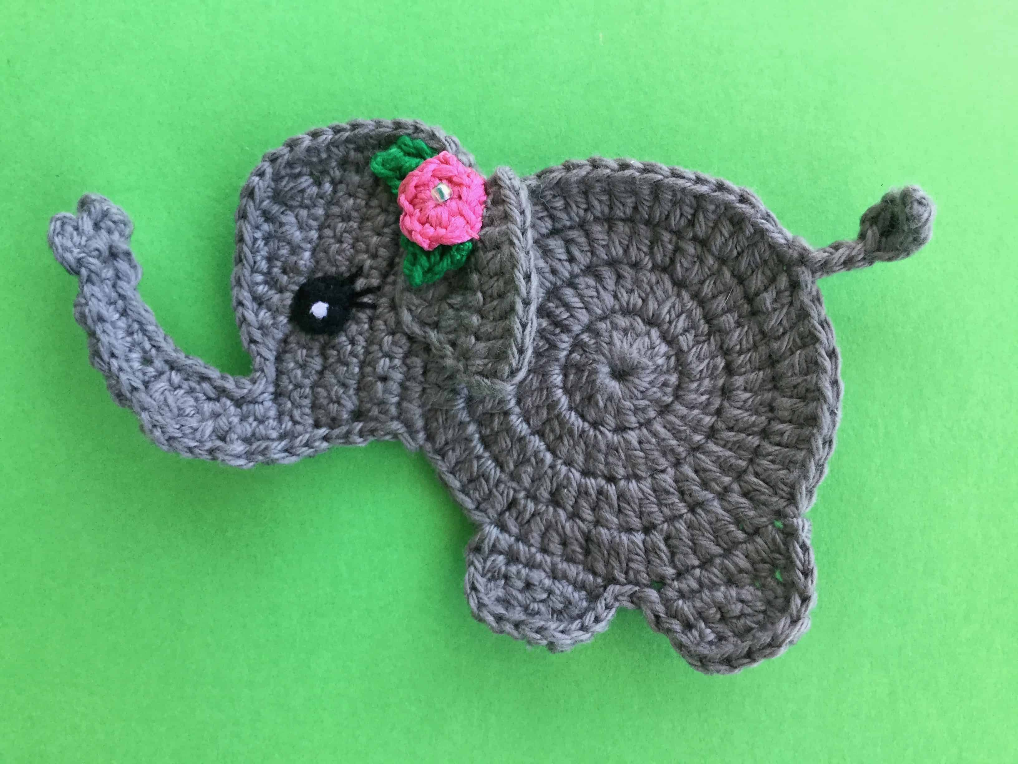Baby Elephant Crochet Applique Pattern • Kerri's Crochet