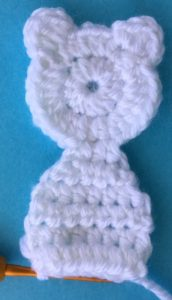 Crochet teddy for plane mobile body