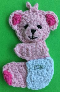 Crochet baby teddy bear body with arm