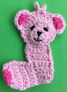 Crochet baby teddy bear body with eyes