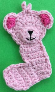 Crochet baby teddy bear body with muzzle