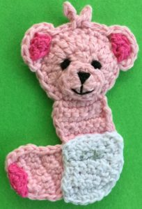 Crochet baby teddy bear body with nappy