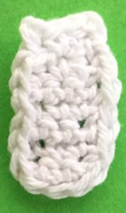 Crochet baby teddy bear bottle bottom neatened