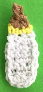 Crochet baby teddy bear bottle finished