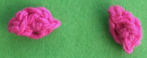 Crochet baby teddy bear inner ears