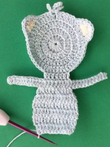 Crochet teddy bear applique body