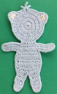 Crochet teddy bear applique body neatened