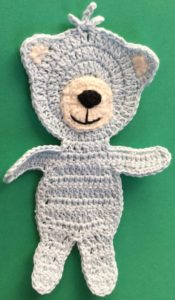Crochet teddy bear applique head with muzzle