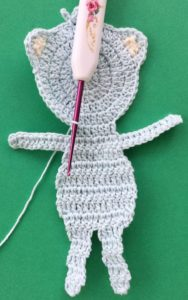 Crochet teddy bear applique joining for neatening row