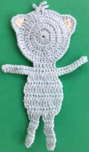 Crochet teddy bear applique legs