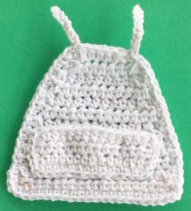 Crochet barbecue apron apron with pocket