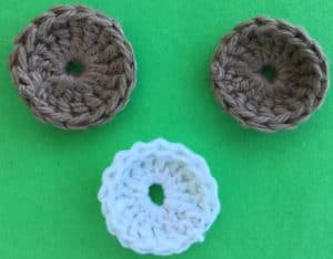 Crochet food for blanket cake pieces