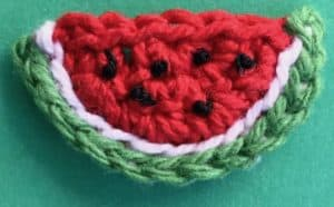 Crochet picnic food watermelon with seeds