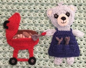 Teddy bears picnic baby blanket barbecue