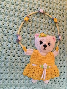Teddy bears picnic baby blanket teddy with skipping rope
