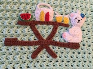 Teddy bears picnic baby blanket teddy with table